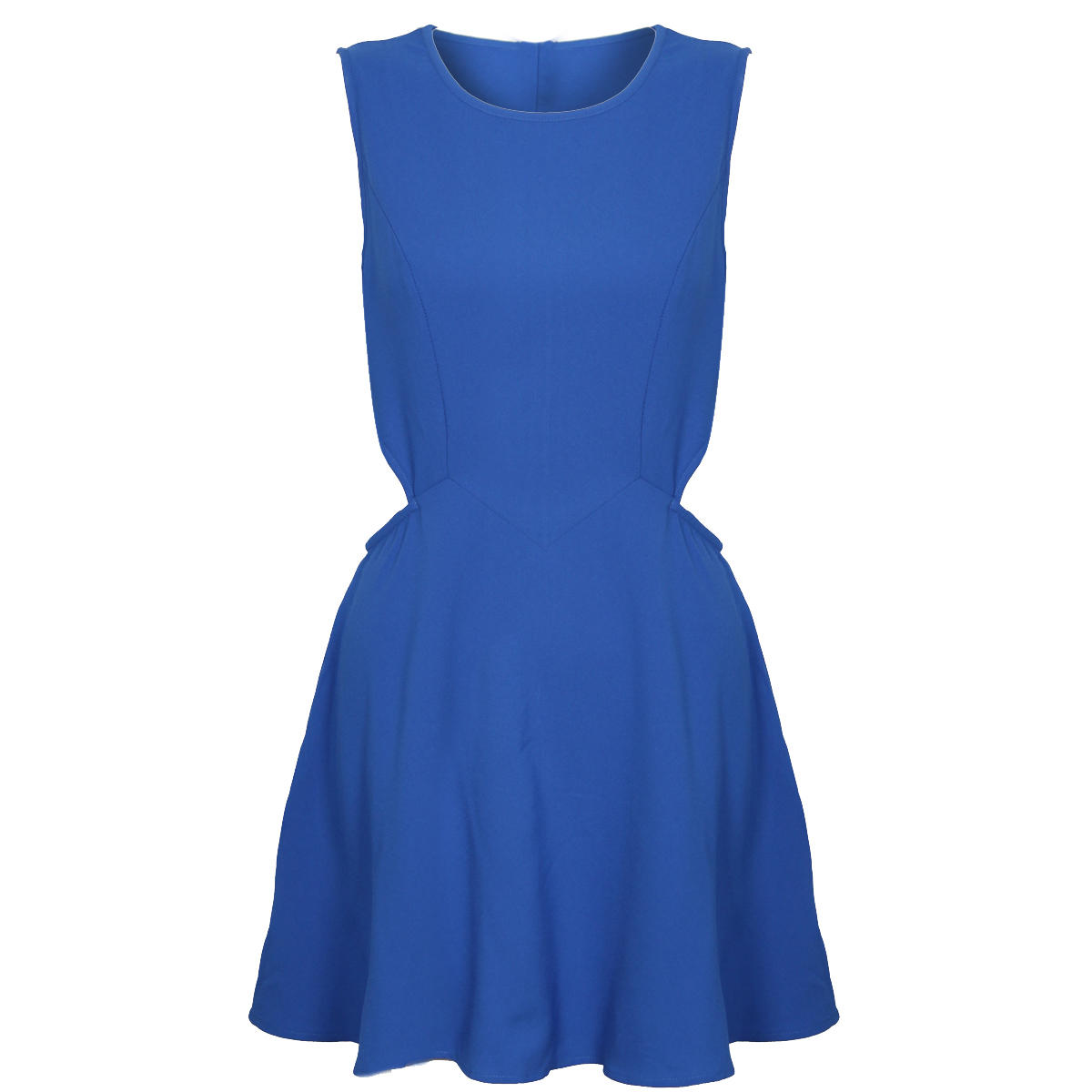 Blue Cut Out Pleat Dress Preview